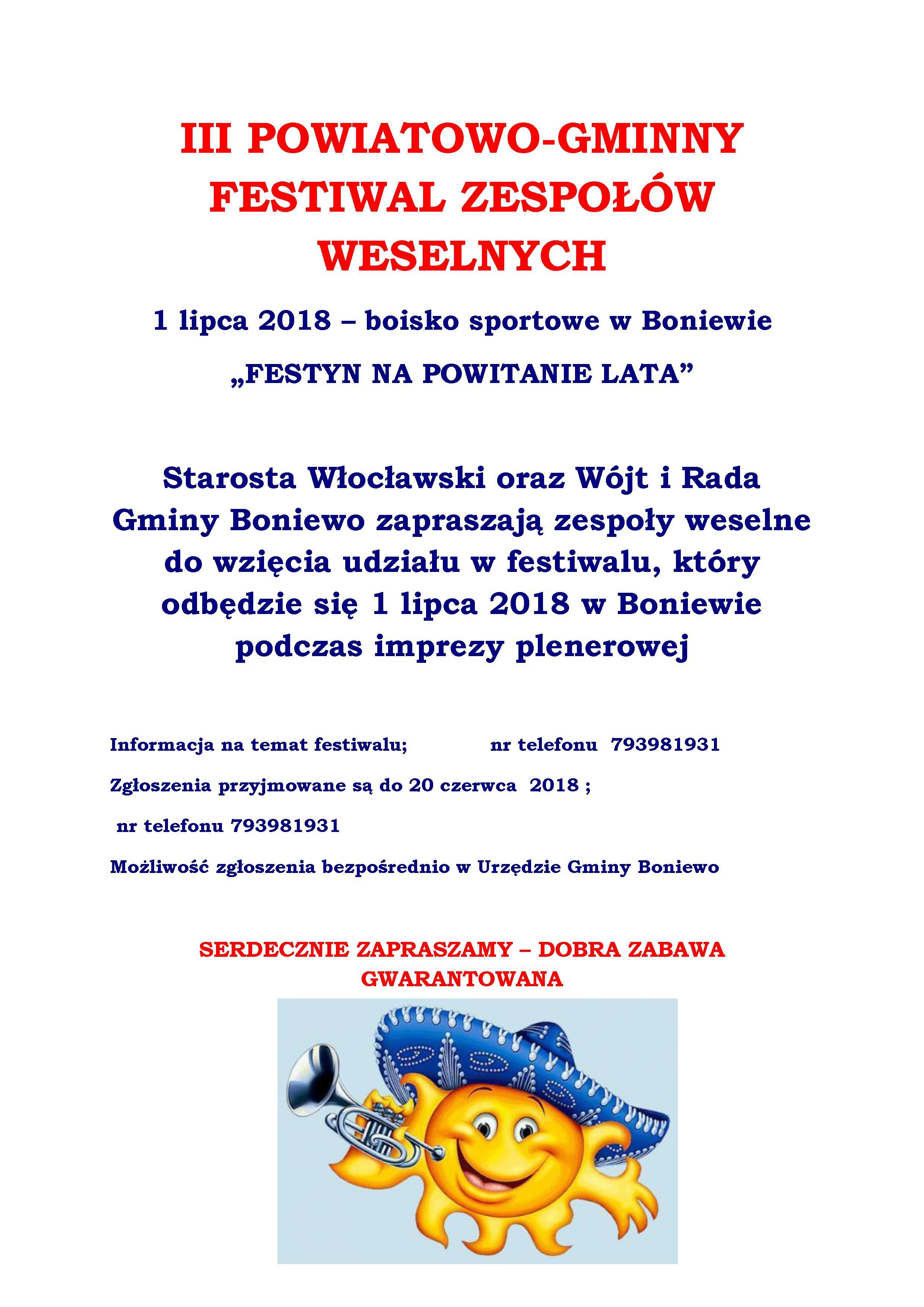 Festiwal Zespołów Weselnych w Boniewie