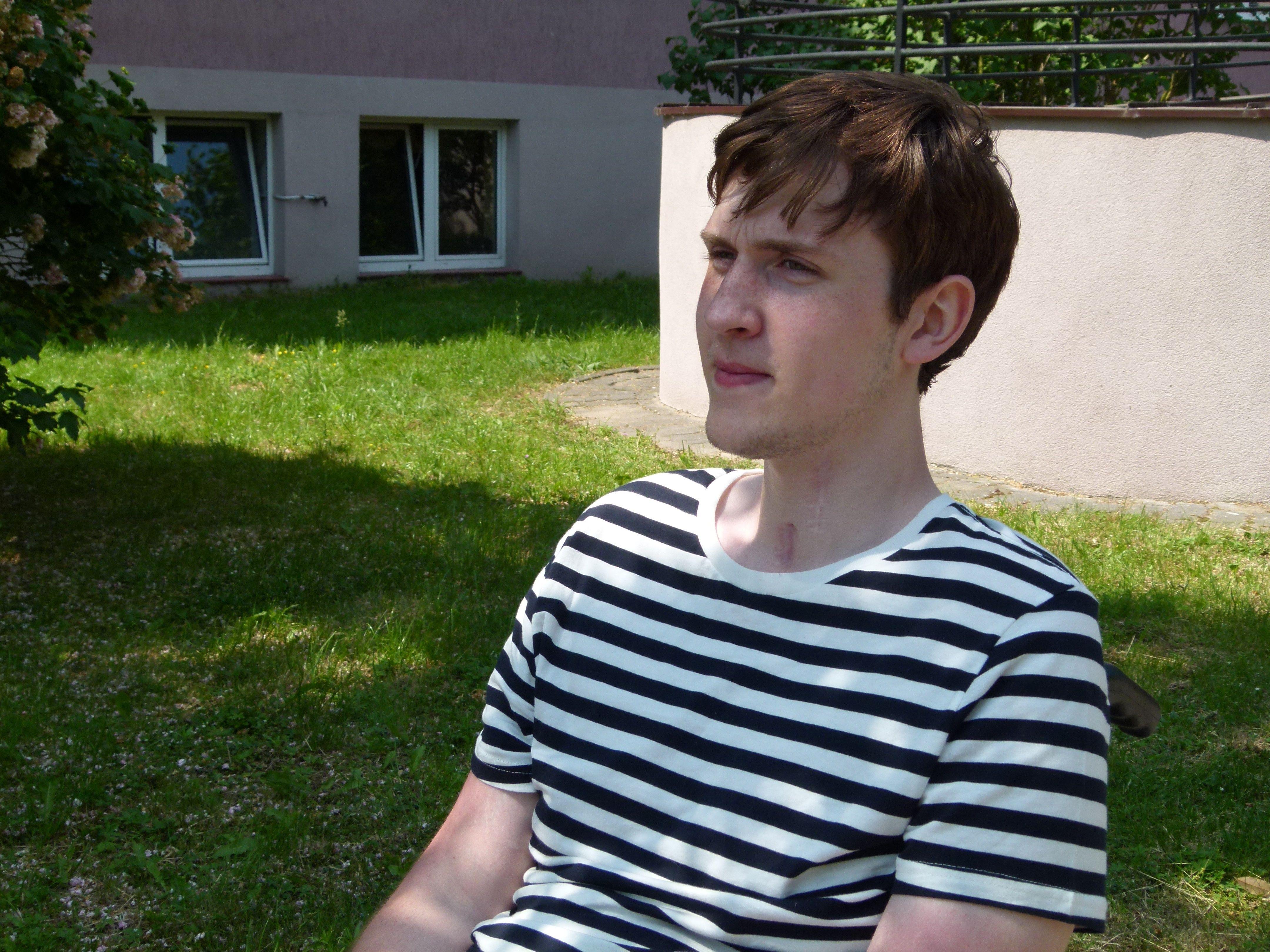 Mateusz zdrowieje w kowalskim Domu Pomocy Społecznej