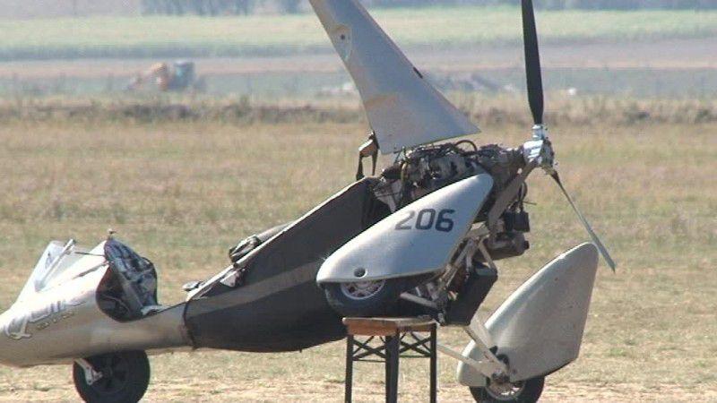 Wypadek motolotni w Kruszynie